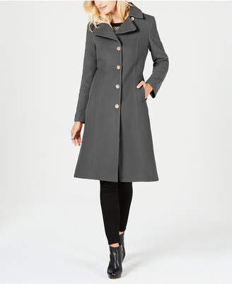 Anne Klein Single-Breasted Midi Coat
