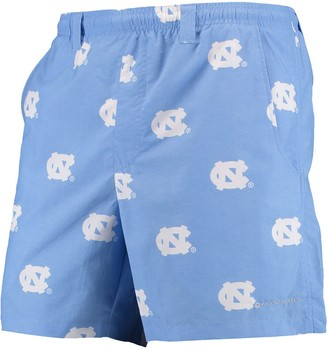 "Columbia Unbranded Men's PFG Carolina Blue North Carolina Tar Heels Backcast II 6"" Omni-Shade Hybrid Shorts"