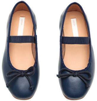 H&M Leather ballet pumps - Blue