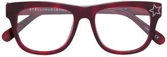 Stella McCartney Eyewear rectangle frame star detail glasses