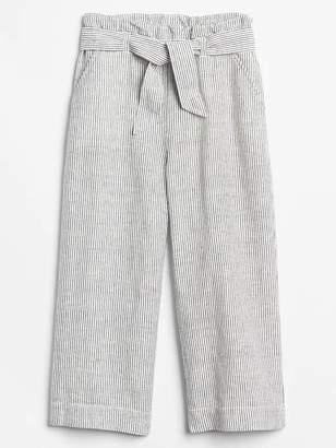 Gap Stripe Tie-Belt Culottes