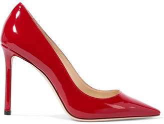 Jimmy Choo Romy 100 Patent-leather Pumps - Red