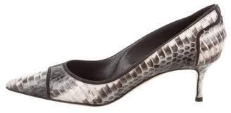 Manolo Blahnik Snakeskin Pointed-Toe Pumps