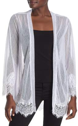 Forgotten Grace Faux Pearl Embellished Lace Cardigan