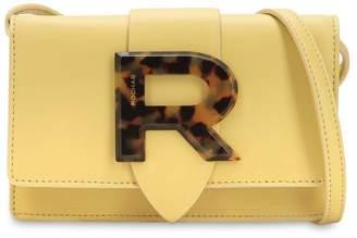Rochas Logo Leather Shoulder Bag