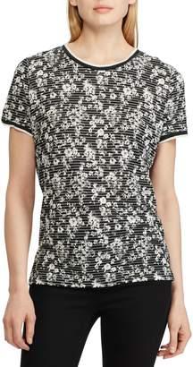 Lauren Ralph Lauren Striped Floral Short-Sleeve Tee