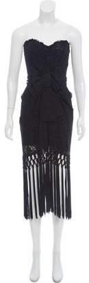 Dolce & Gabbana Lace Fringe Gown
