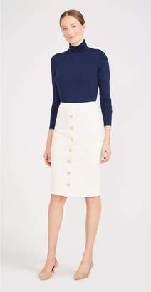 J.Mclaughlin Vivienne Skirt in Antique Cable Knit Jacquard
