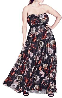 City Chic Holiday Rose Gown