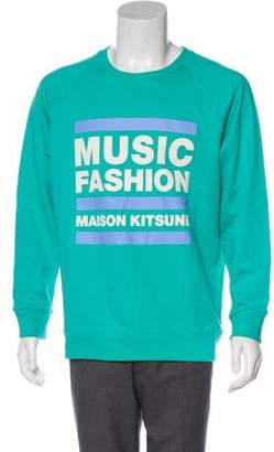 MAISON KITSUNÉ Graphic Knit Sweatshirt