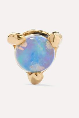 Wwake - Gold Opal Earring - Blue