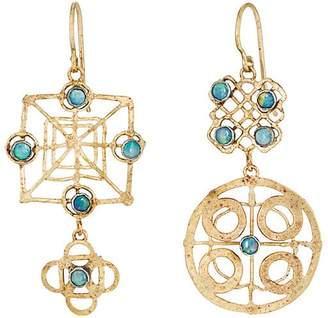 Judy Geib Women's Wheel Double-Drop Earrings