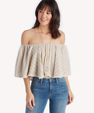 Sole Society Ruffle Crop Top