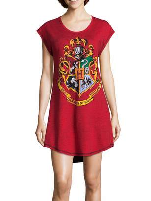 Harry Potter Hogwarts Juniors' Nightshirt Nightgown Pajamas (, Red)