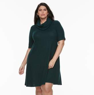 Apt. 9 Plus Size A-line Scarf Sweater Dress