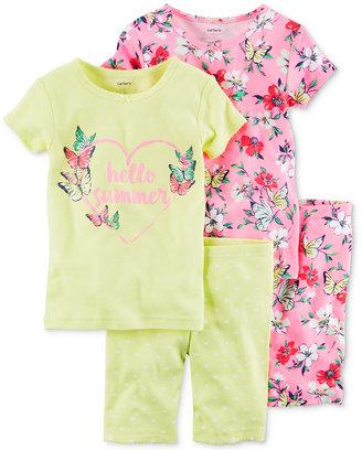 Carter's 4-Pc. Hello Summer Cotton Pajama Set, Baby Girls (0-24 months) $34 thestylecure.com