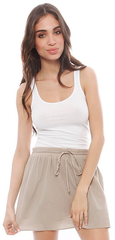 James Perse Long Tank in White