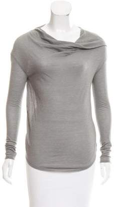Helmut Lang Cowl Neck Long Sleeve Top