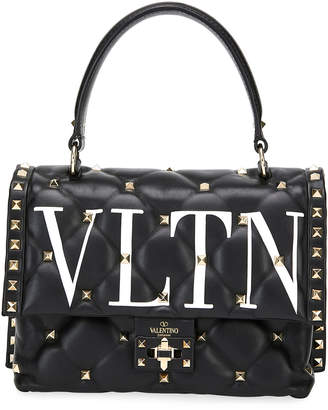 Valentino Garavani Candystud Medium VLTN Logo Top-Handle Bag
