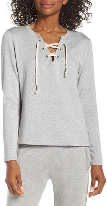 Beyond Yoga Lace-Up Pullover