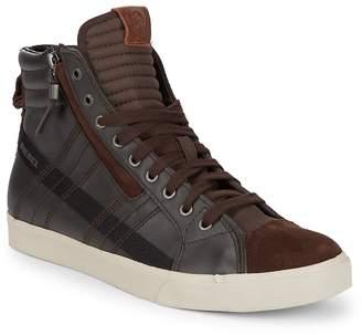 Diesel Men's D-Velows Leather Hi-Top Sneakers