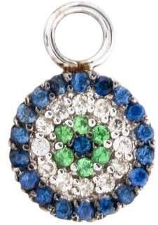 Sydney Evan 14K Sapphire, Tsavorite & Diamond Disc Charm