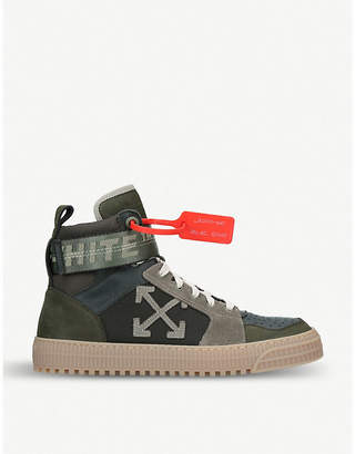 Off-White Industrial Belt leather high-top trainers