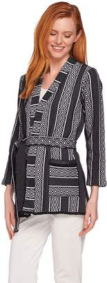 C. Wonder Kimono Style Knit Jacket with Fringe Detail