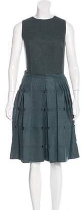 Calvin Klein Collection Wool Cutout Skirt Set w/ Tags