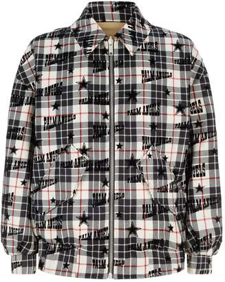 Palm Angels Check Harrington Jacket