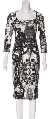 Just Cavalli Long Sleeve Midi Dress w/ Tags