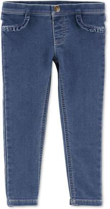 Carter's Baby Girls Slim-Fit Ruffled Knit Denim Jeggings