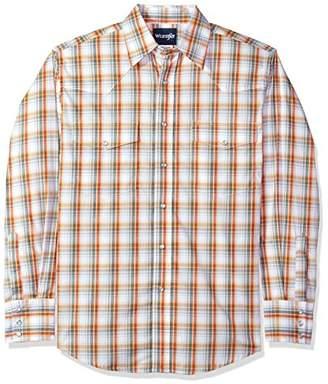 Wrangler Men's Wrinkle Resist Long Sleeve Snap Front Shirt