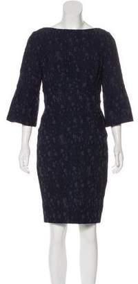 Lela Rose Matelassé Knee-Length Dress