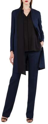Akris Reversible Stretch Wool & Silk Coat