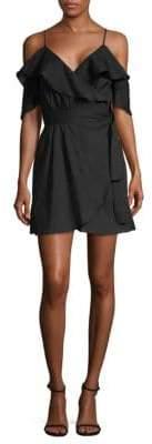 6 Shore Road Cold-Shoulder Ruffle Tie Dress