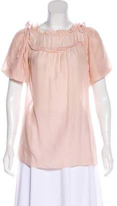 Marc by Marc Jacobs Semi-Sheer Silk Blouse