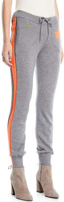 Bella Freud Billie Side-Stripe Cashmere Jogger Track Pants