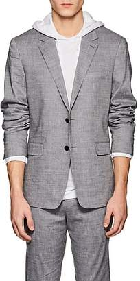 Theory MEN'S GANSEVOORT LINEN-BLEND TWO-BUTTON SPORTCOAT - GRAY SIZE 40