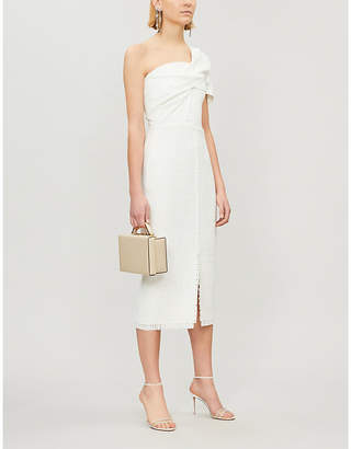 Roland Mouret Morita one-shoulder wool-crepe dress