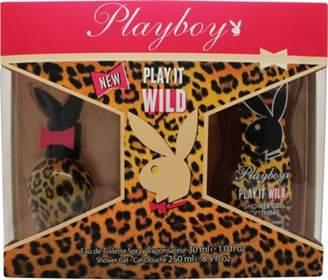 Playboy Play It Wild For Her Gift Set 30mL Edt + 250mL Shower Gel For Women