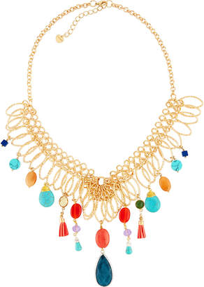 Nakamol Multicolor Mixed Statement Necklace