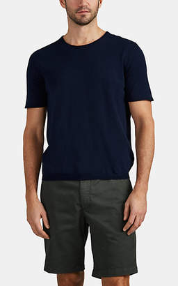 Eleventy Men's Fine-Gauge Cotton T-Shirt - Navy