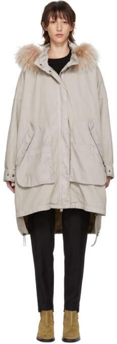Army Grey Long Chevron Pocket Coat