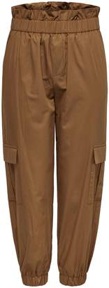 Only Paperbag Waist Cotton Cargo Jogger Pants