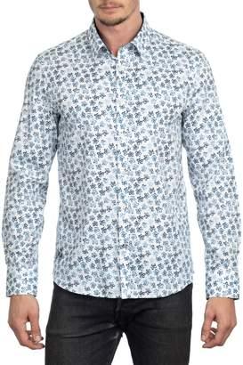 English Laundry Regular-Fit Retro Daisy Button-Down Shirt