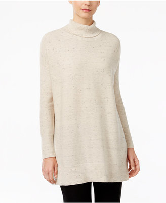 Eileen Fisher Organic Cotton-Blend Turtleneck Tunic Sweater $248 thestylecure.com