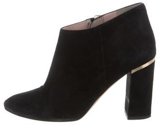 Kate Spade Kate Spade New York Suede Round-Toe Booties