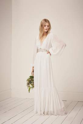 French Connection Cari Sparkle Maxi Wedding Dress