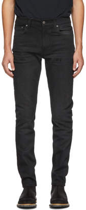 Nudie Jeans Black Lean Dean Jeans